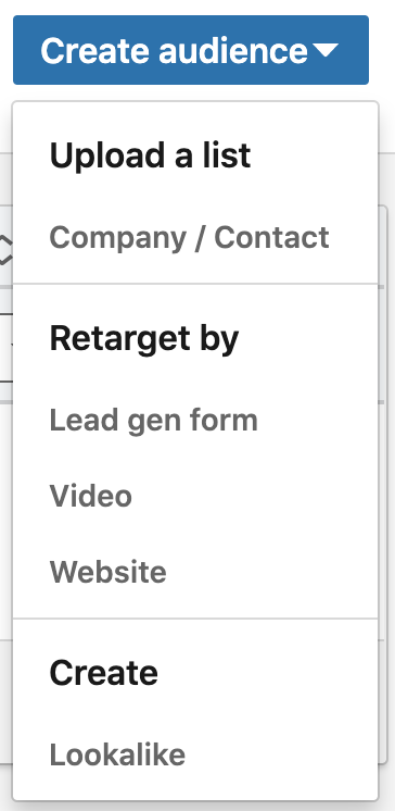 LinkedIn retargeting lead gen forms