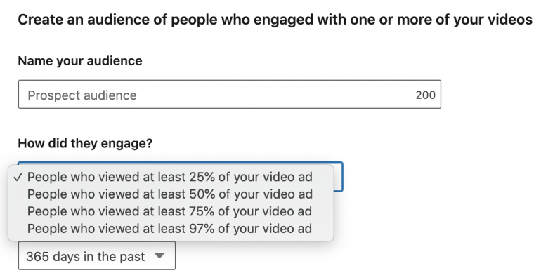 LinkedIn retargeting video-ads